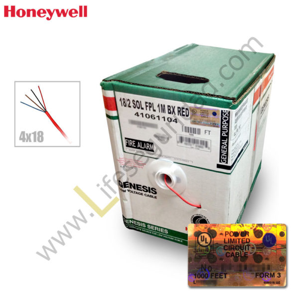 HONFPL4X18 Cable incendio 4X18 AWG FPL 1