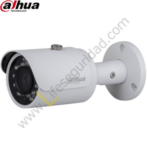 IPC-HFW1120S TUBO EXTERIOR | CMOS 1/3'' ICR | 1.3 MP | HD 720P | IR: 30m | IP66 | PoE