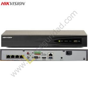DS7608NI-SE/P NVR 8CH (4POE) / HASTA 5MP / TASA BITS 40MBPS / SALIDA HDMI / VGA /SOPORTA 2HDD / TCP/IP 10/100/1000